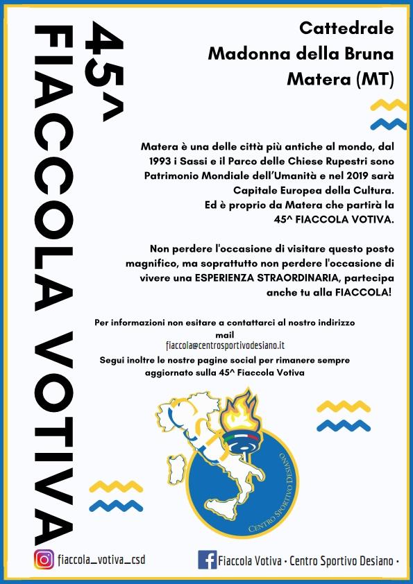 45^ fiaccola 2019