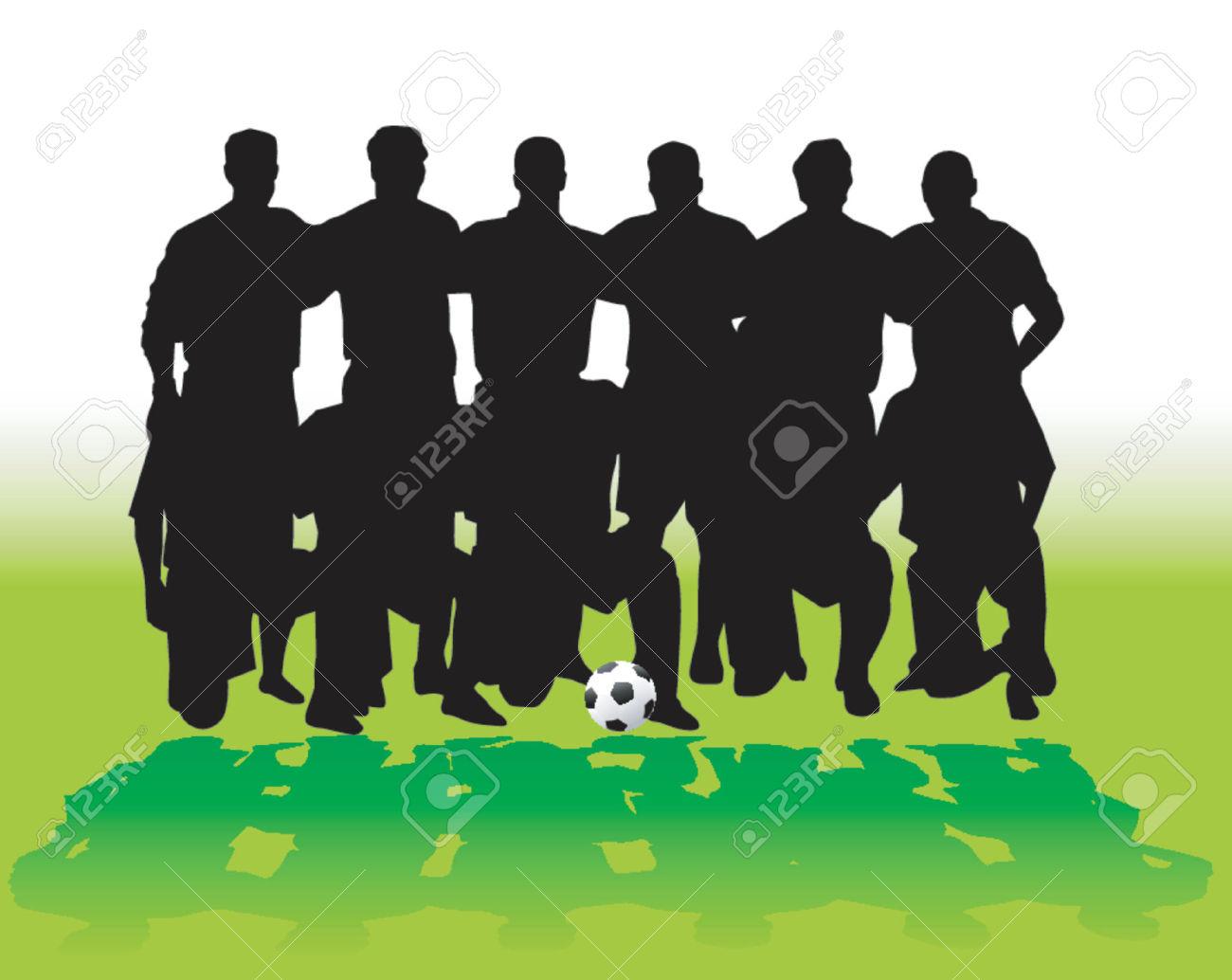 410051-la-squadra-di-calcio-vettore-archivio-fotografico